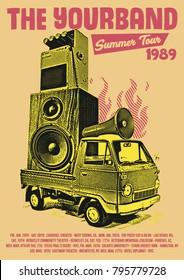 Rock Band Tour Poster Flyer Art Template