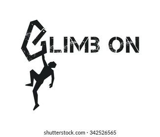 Rock climber. Vector illustration.
