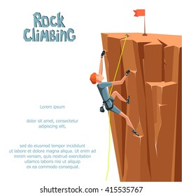 Rock Climbing boy. Isolated On White Background. Bouldering sport. Graphic Design Editable For Your Design. Vector Illustration
