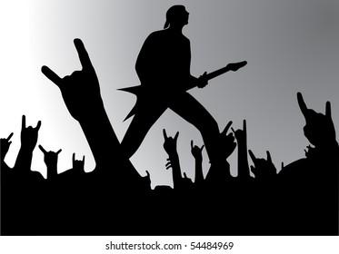 Rock concert, vector illustration