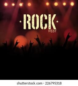 Rock festival, poster, eps 10