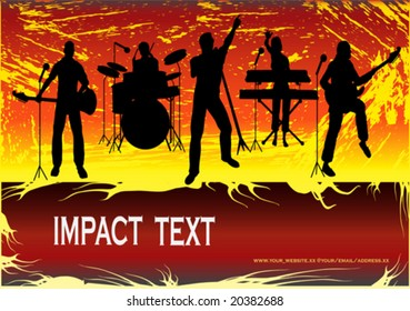 Rock Group Poster