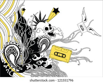 rock grunge doodles