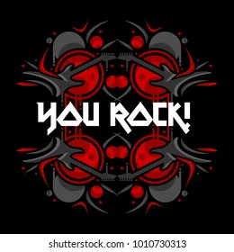 rock guitar vector illustration for your event/flyer/poster/element of your great project