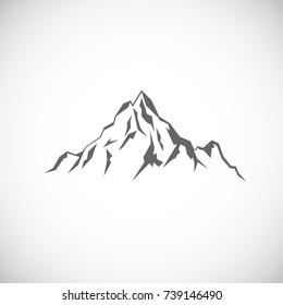 Rock mountain icon. Outline illustration of mountain vector icon for web isolated on white background