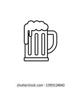 rock, mug, beer, foam icon. Element of rock and roll icon. Thin line icon for website design and development, app development. Premium icon