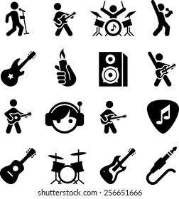 Rock music icons