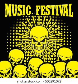 Rock music party, Rock festival poster banner