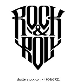 Rock music print, hipster vintage label, graphic design with grunge effect, tee print stamp. t-shirt lettering artwork, Vector illustration in flat, cartoon style isolated from the background, EPS 10