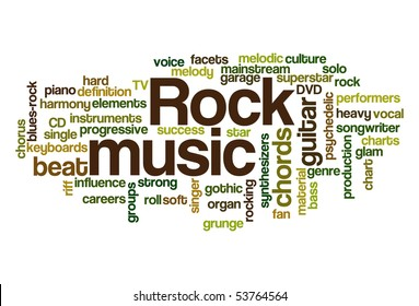 Rock music - Word Cloud
