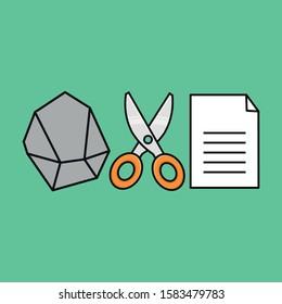 rock paper scissors game illustration