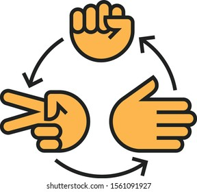 Rock Paper Scissors Roshambo Game Icon