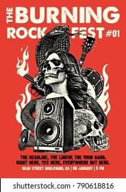 Rock Poster Flyer Art Template