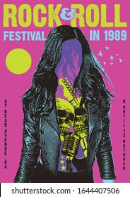 Rock and Roll Festival Gig Poster Flyer Template