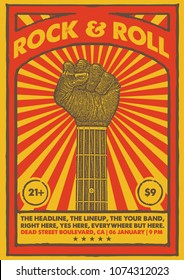 Rock And Roll Gig Poster Flyer Template