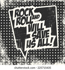 rock and roll, illustration in vector format