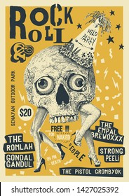 Rock and Roll Party Gig Poster Flyer Template