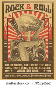 Vintage Rock Posters Images, Stock Photos & Vectors