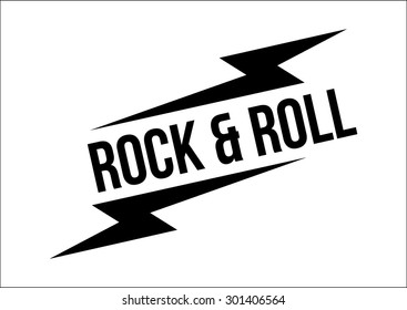 Rock and roll print in vector