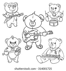 3132bbbc7 rock and roll Teddy bear for children drawn hero,hand made teddy bears,hand