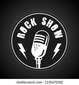 Rock Show in Flat Design