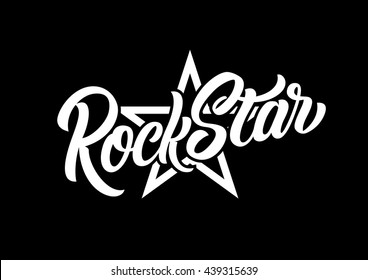 Rock Star lettering print.