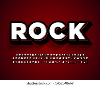 Rock stickee font effect, strong bold text style