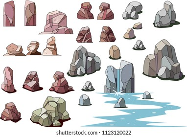 Rock and stone material collection