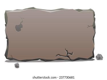 Rock or stone slab banner
