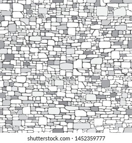 Rock or stone wall background. Seamless pattern. Vector illustration EPS 10