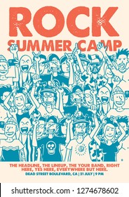 Rock Summer Camp Gig Poster Flyer Template