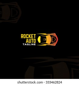 Rocket auto logo. Logo template for car tuning centre