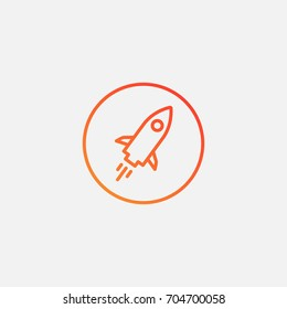 Rocket boost icon.gradient illustration isolated vector sign symbol