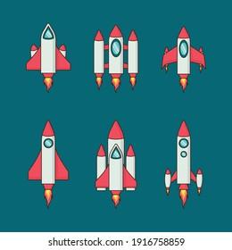 rocket flat design vector illustration