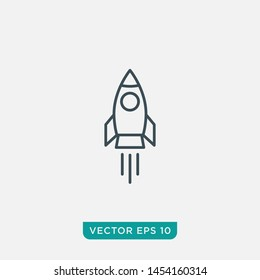 Rocket Icon Design, Vector EPS10