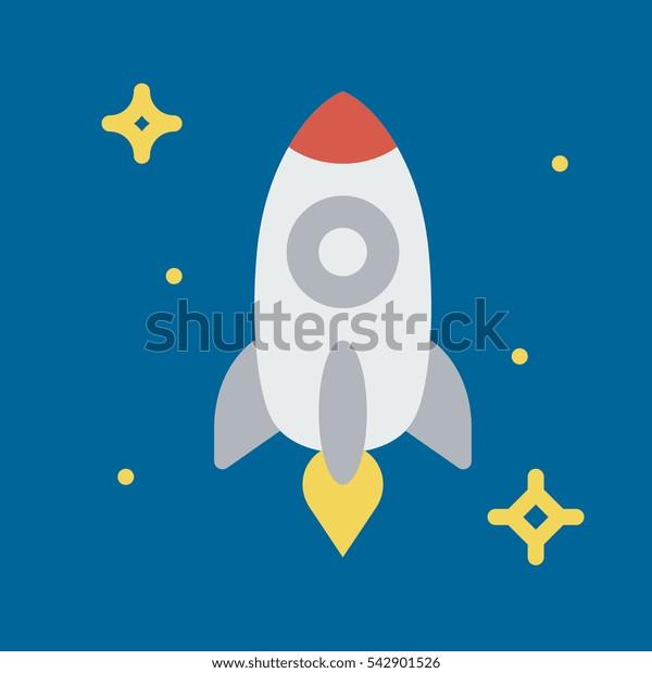rocket icon flat disign