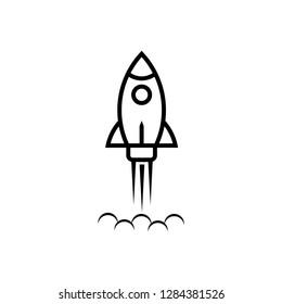 Rocket icon symbol vector