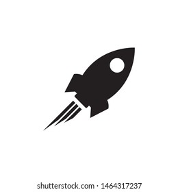 Rocket icon vector in flat design