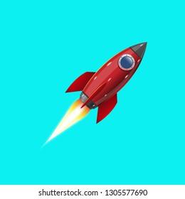 Rocket, icon. Vector illustration
