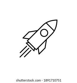 Rocket icon vector. Startup icon vector.