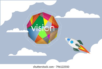 Rocket Ideas Fly into the Sky for a Business Vision
