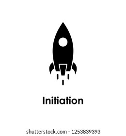 rocket, initiation icon. One of business icons for websites, web design, mobile app