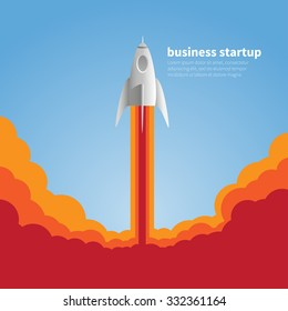 rocket launch business startup background