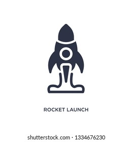 rocket launch icon. Simple element illustration from user interface concept. rocket launch editable symbol design on white background. Can be use for web and mobile.