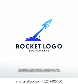 Rocket logo designs template, logo symbol icon