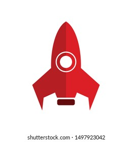 rocket logo icon template, rocket vector element