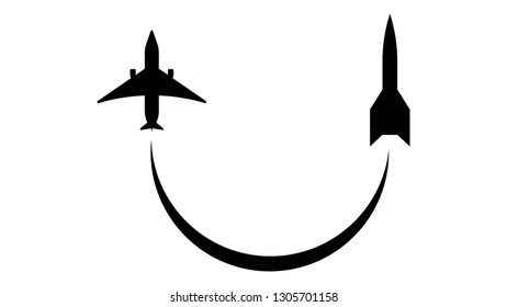 Rocket logo vector design. Rocket icon. Space icon, space logo, plane icon