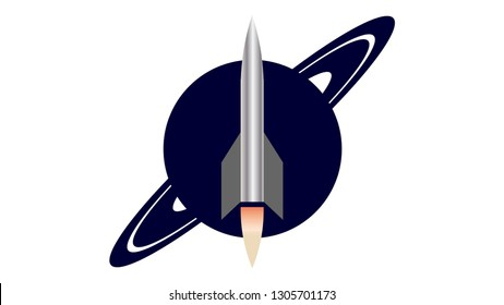 Rocket logo vector design. Rocket icon. Space icon, space logo