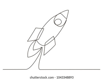 Rocket One line drawing