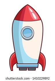 rocket skyrocket cartoon vector illustration graphic design